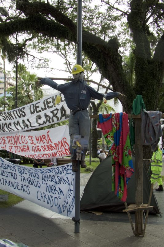 Protest, the plaza, Santa Cruz, Bolivia.