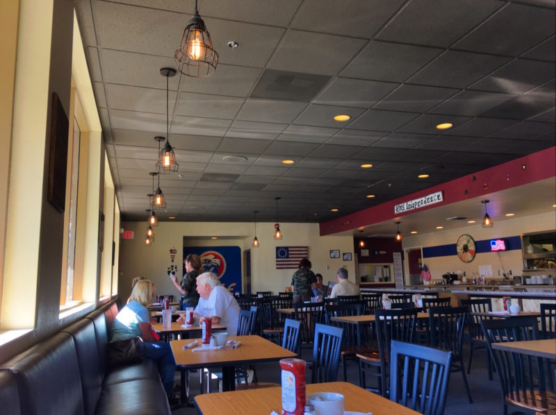 Inside the Independence Diner, which used to be Danny's, which used to be Denny's.